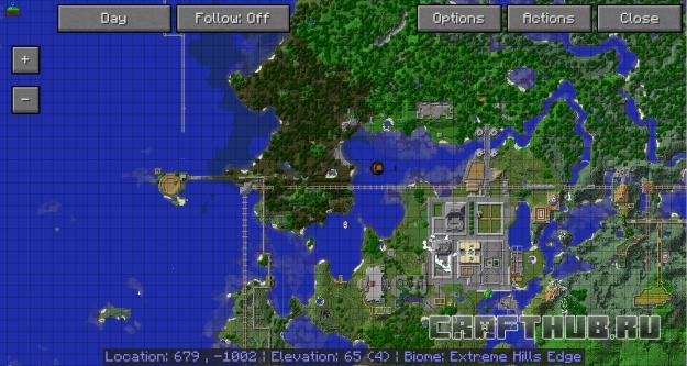 карта JourneyMap