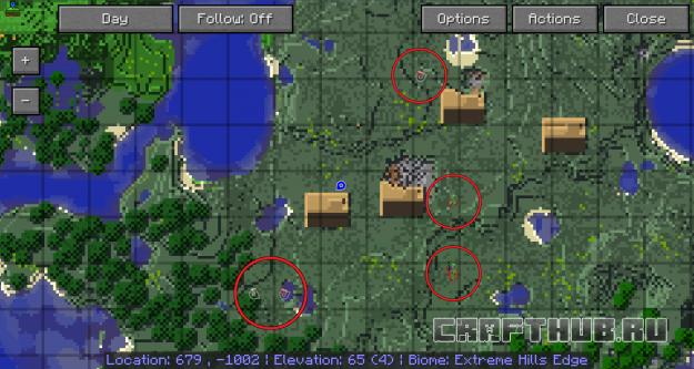 отображение мобов на карте