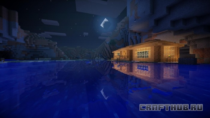Шейдеры Sildur ночь вода