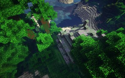 Сид храма с сокровищами в джунглях