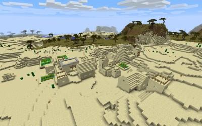 Причудливая деревня полная добычи.