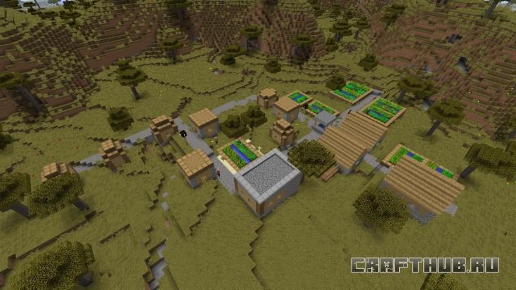 Вторая деревня совсем рядом, первая за спиной.