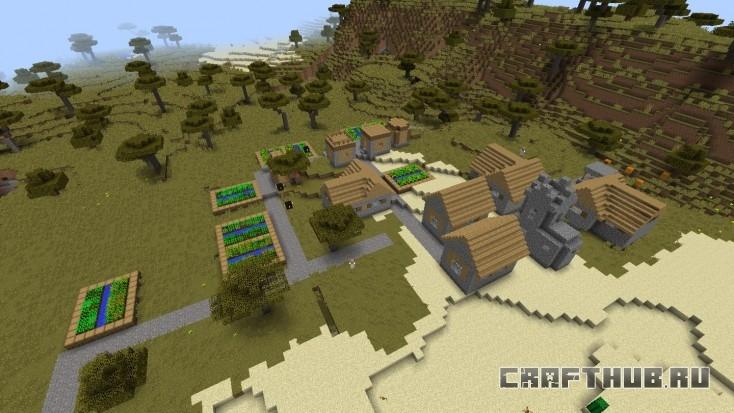 Обычная деревня без примечательного лута. Бесплатное питание!