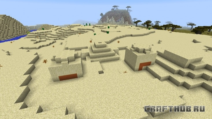 Пустынный храм, почти погребённый. Хорошая добыча внутри.