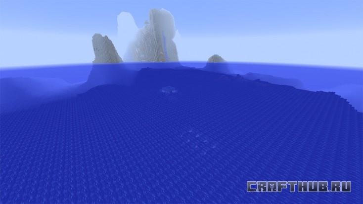 Храм в океане, скрытый под волнами. Будьте осторожны.