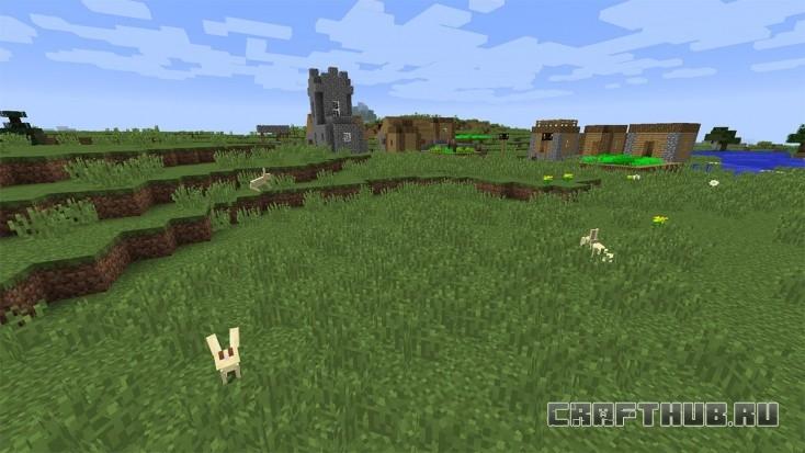Кролики и деревня
