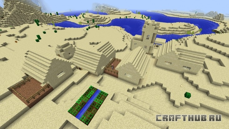 Первая деревня в пустыня, рядом с храмом.