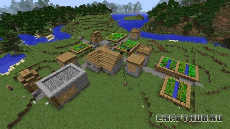 Большая из двух NPC-деревень около места появления, в ней есть лут.