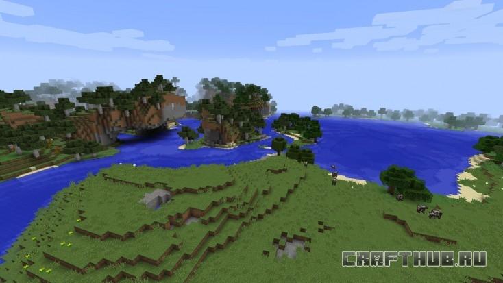 Приятное глазу озеро с выступающей слева горой. Многообещающе для строительства!