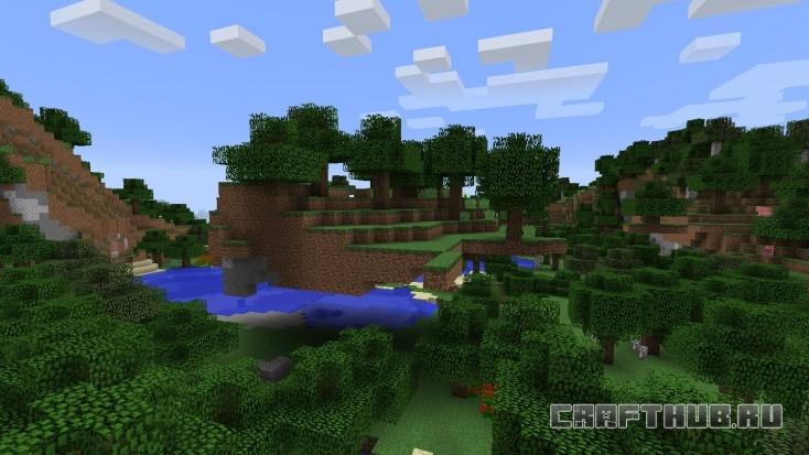 Плавучий остров! Плавает над верхушками деревьев.
