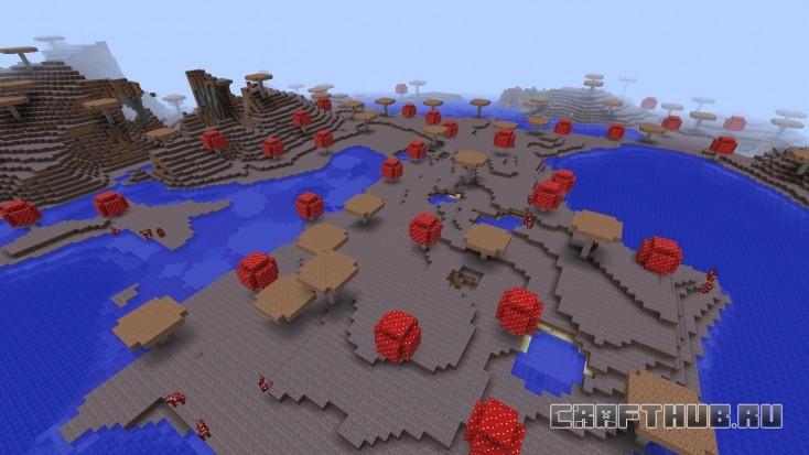 Остров полон грибов и грибных коров!