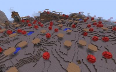 Отличный сид острова с грибами
