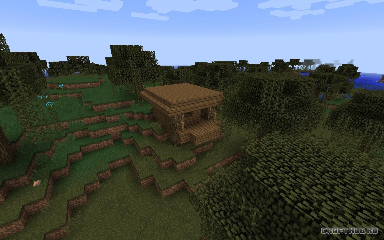 сид на майнкрафт 1.12.1 на деревню с домиком ведьмы #4