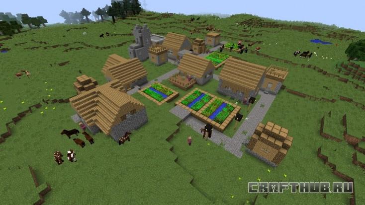 Деревня номер один! Красивая, но полезного в ней мало.