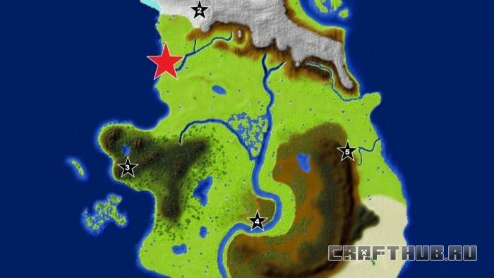 Карта на выживание Forgotten Land
