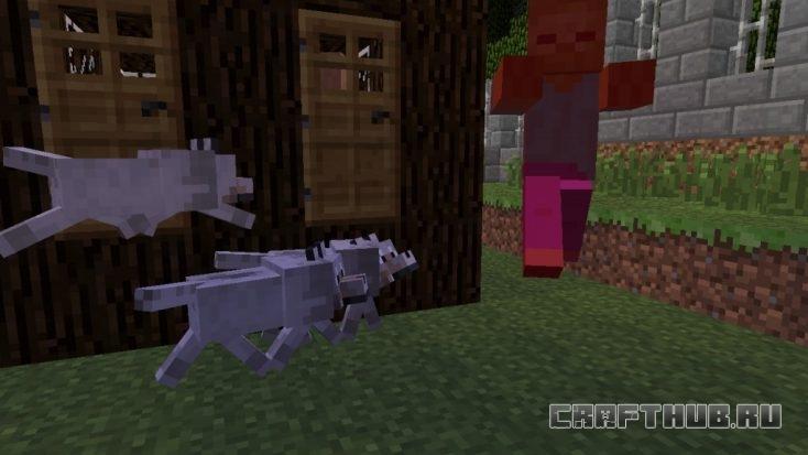 волки атакуют зомби