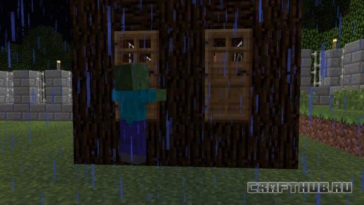 зомби и дверь на блоках