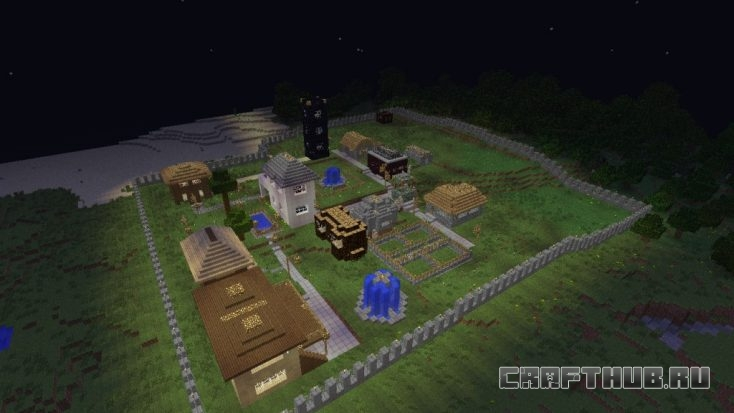 деревня окружена стеной