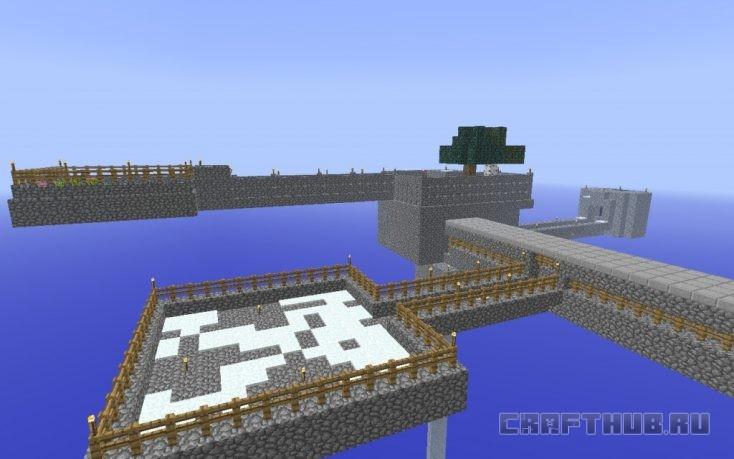 дом на острове skyblock