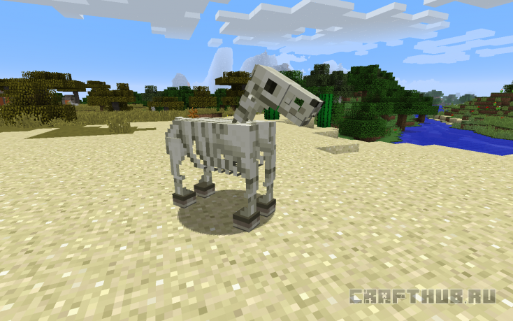 Скелет лошади в Майнкрафт