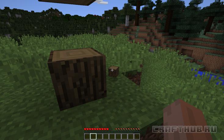 Добыча древесины в Майнкрафт
