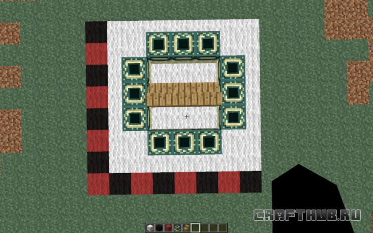 Создайте четвёртую сторону портала Края.
